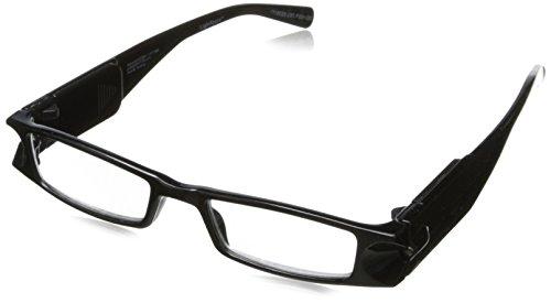 Foster Grant Liberty Rectangular Reading Glasses,Black,1.5]()