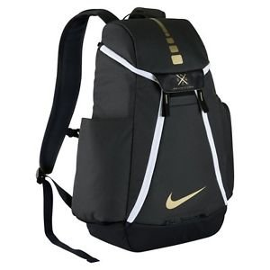 Nike Hoops Elite Max Air Team 2.0 Basketball Backpack Anthracite/Black/Metallic Gold by NIKE