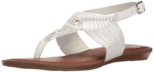 Sadey Femmes Fergalicious Sandales Plates Blanc