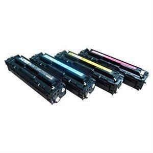 Clearprint CB540A, CB541A, CB542A, CB543A Compatible Color Toner Set for HP LaserJet 1215, 1515, 1518 printers ()