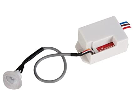 Veka - Detector de movimiento PIR (empotrable, 100º, 12 V)