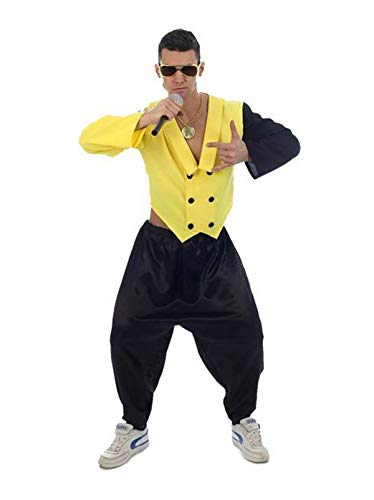 MA ONLINE Mens Rap King Music Concert Outfit Adults Fancy Celebrity Party Wear Costume One Size -