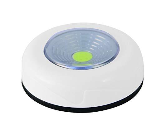 Velamp Mini Push Light: Druklamp LED, Wit. Op Batterijen