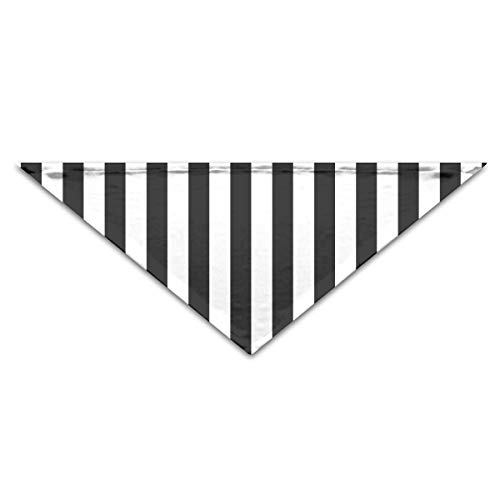 (OHMYCOLOR Black White Zebra Lines Stripe Dog Bandanas Scarves Triangle Bibs Scarfs Funny Basic Neckerchief Cat Collars Pet Costume Accessory Kerchief for Large&Medium&Small Puppy)
