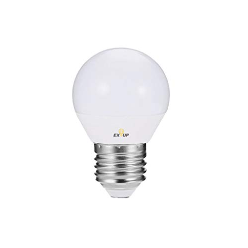 Juner 60 Watt LED Light Bulbs, 60W E27 Bulbs Use only 5 Watts, Warm White 2900K/6500K Non-Dimmable E27 LED Light Bulbs (US)