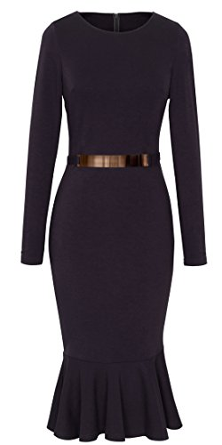 Buy below the knee black sheath dress - 4