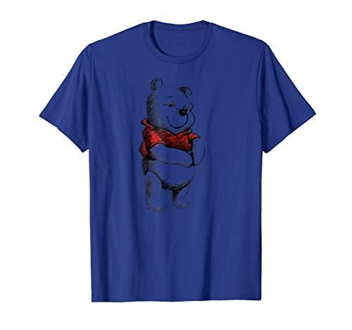 Disney Sketch of Winnie the Pooh T Shirt]()
