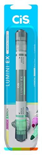 Marca Texto Lumini EX CIS, Ponta Dupla (Marca e Apaga) - Blister com 1 unidade, Sertic 58.8901, Verde Pastel