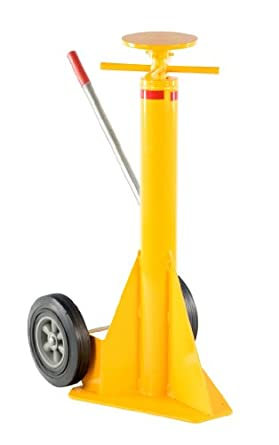 Vestil SP-TOP Steel Spin Top Trailer Stabilizing Jack with Powder Coat Safety Yellow Finish, 100,000 lbs Capacity