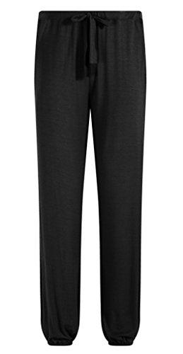 Cuff Black Pants (ZSHOW Men's Cotton Yoga Pants Elastic Waist Pajama Lounging Pockets Sleep Pants(Black,XL))