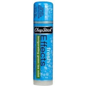 Chapstick Fresh Effects Lip Balm-Invigorating Green Tea Mint (Quantity of 6)