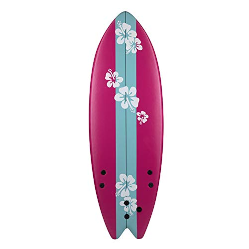 - Grande Juguete Catch Surf 5 1/3' Tri Ocean Beach Foamie Boards Great for Kids, Adults and Children (Pink)