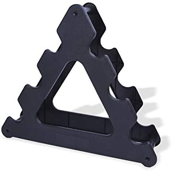 Fashion888 Dumbbell Rack, Compact Dumbbell Bracket Free Weight Stand for Home Gym Black Without Weights(Only Rack)