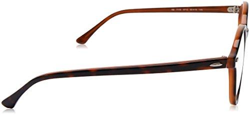Ray-Ban rx7118 5713 50 verres de doyen à la Havane brun clair RX7118 5713 50 Clear Havana Light Brown