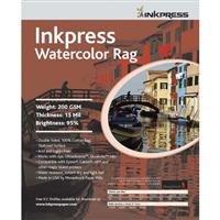 Inkpress Watercolor Rag Paper - Inkpress LT851125 Fine Art Watercolor Rag 200 8.5in. X 11in. 25 Sheets