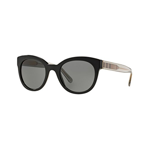 Burberrys BE4210 300187 Black BE4210 Round Sunglasses Len...
