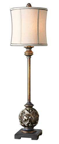 - Uttermost 29291-1 Shahla Bronze Lamp, Antiqued Silver