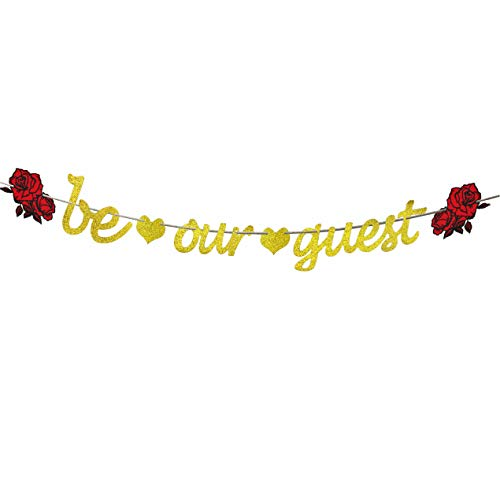 Be Our Guest Banner Reception Banner Bachelorette Engagement Bridal Shower Baby Shower Birthday Party Favor Supplies Decorations -