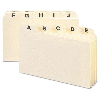 Self-Tab Card Guides, Alpha, 1/5 Tab, Manila, 6 x 4, 25/Set, Sold as 1 Set by Generic