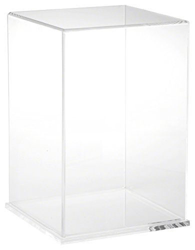 Plymor Brand Clear Acrylic Display Case with Clear Base, 8