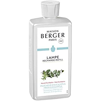 Maison Berger (Lampe Berger - New Fresh Eucalyptus Fragrance - Aromatic & Invigorating - 16.9 Ounce/Nonreturnable Item/Can Not Be Shipped Into California