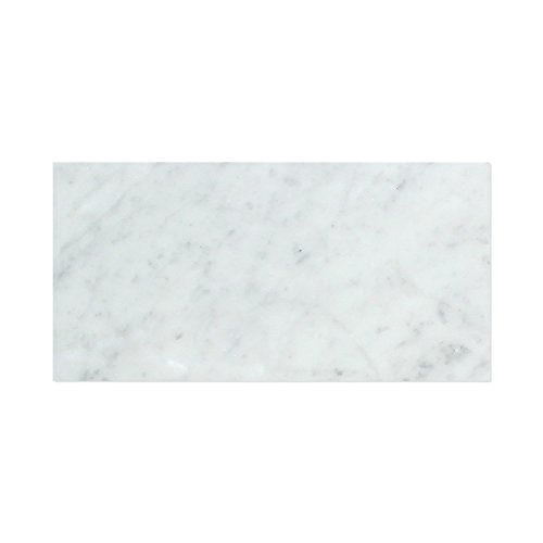 Carrara White Italian (Bianco Carrara) Marble 6 X 12 Subway Field Tile, Polished