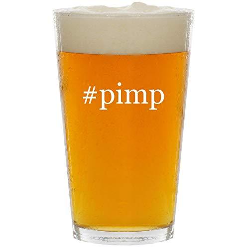 #pimp - Glass Hashtag 16oz Beer Pint (Best Pimp Slap Ever)