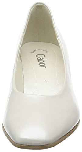 Gabor Women's Closed-Toe Pumps Off White (Off White Pearlised Leather) 45nt6