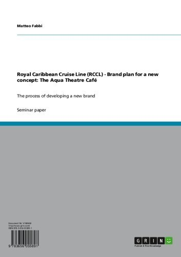 Royal Caribbean Cruise Line (RCCL) - Brand plan for a new concept: The Aqua Theatre Café: The process of developing a new...