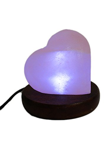 USB Heart Shape with UL Usb Plug Himalayan Salt Lamp Hand Made Tall 2.7-3 By Amoystone
