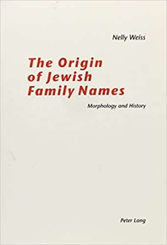 Amazon com: The Origin of Jewish Family Names: Morphology