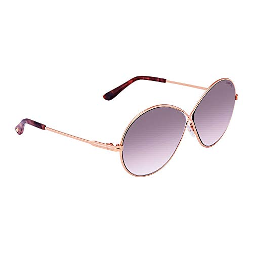 Tom Ford TF 0564 Rania color 28Z Gold/Purple gradient silver flash mirror