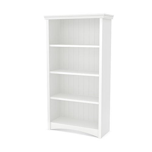 South Shore Gascony 4-Shelf Bookcase, Pure White by South Shore