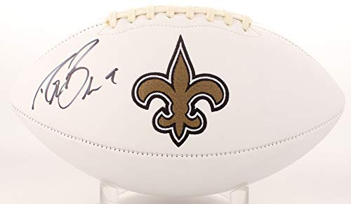 87251f02c2c Drew Brees New Orleans Saints Signed Autograph Embroidered Logo Football  JSA Witnessed Certified