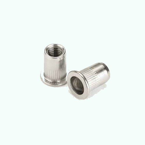 Knurled - Serrated - Steel Large Head Rivnuts Rivet Nuts Nutserts Blind M5 x5 About Town Bolts LTD