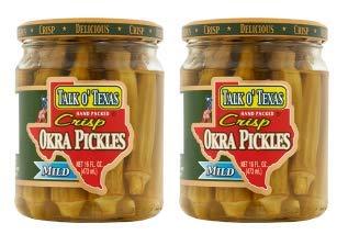 (Talk O Texas Okra Pickled Mild (Pack of 2))