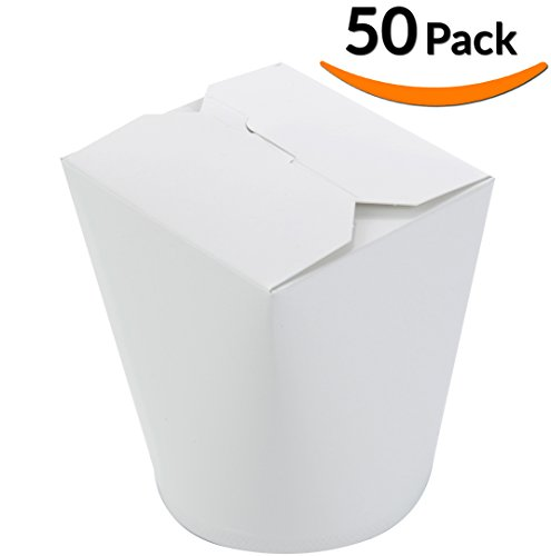 DOBI 32oz. (50 Pack) Microwave Safe Chinese Takeout Boxes - Disposable Leakproof Containers, XL Size