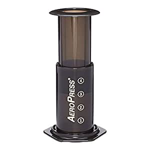 Aerobie 65201 AeroPress Coffee and Espresso Maker, Black Gray