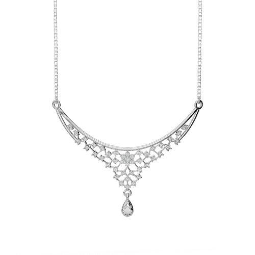 Or blanc/or jaune/Platine Diamant Collier avec chaîne dnc-1739-vsgh