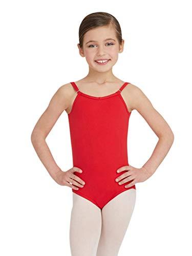 Capezio Camisole Leotard w/Adjustable Straps - Girls - Size 6/8, Red