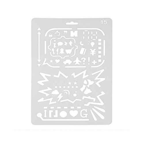 Yu2d  Embossing Paper Card Plastic Painting Letter Masking Spray Layering Stencils(C)