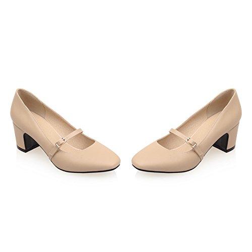 Tacchi Spillo Tacco Pompa Piattaforma Alla Di Vestito A Donne Caviglia Beige Alto Aiweiyi Cinturino Partito z0qxApvF