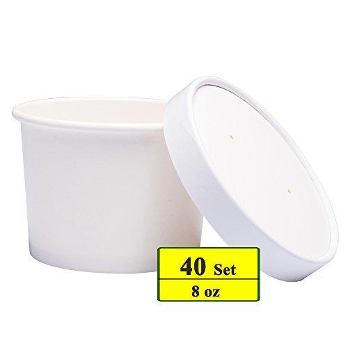 ice cream cups white - 6