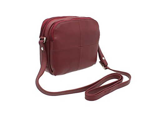 Brown Visconti Style Red Leather Leather 18939 Shoulder Visconti Bag Small ra8YrxBq