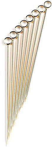 PuTwo Stainless Steel Metal Martini Picks, 4
