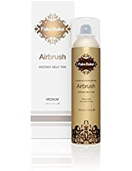 Instant Self Tanning Spray AirBrush by Fake Bake | Fast Drying Formula that Develops the Perfect Golden Bronze Tan in Few Hours | Refined 360˚ Nozzle Gives a Continuous Spray at Any Angle | 7.1 fl oz