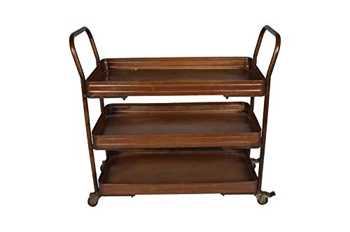 Designe Gallerie Storage Rack for Kitchen, Rustic Home Furniture, Brown Color,