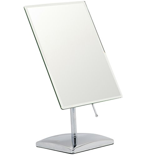 Mirrorvana Rectangular Vanity Makeup Mirror ~ Elegant Frameless Design for Bedroom Table - Bathroom Freestanding Rectangular Mirrors