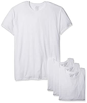 Fruit of the Loom Men's 3-Pack Premium Breathable Cotton Micromesh Man Crew, White Ice, 2X-Large Big