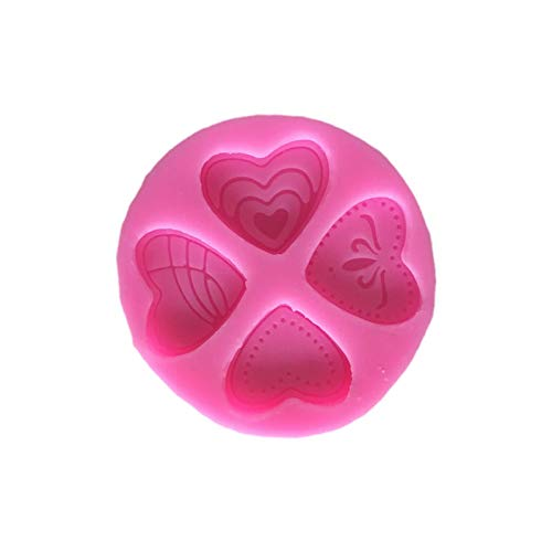 1 piece 4 Styles 3D Silicone Heart Loving Shaped Baking Mold Fondant Cake Tool Chocolate Candy Cookies Pastry Soap Moulds E687